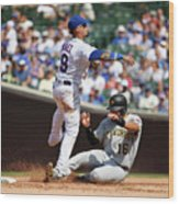Pittsburgh Pirates  V Chicago Cubs 1 Wood Print