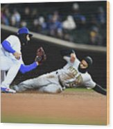 Pittsburgh Pirates  V Chicago Cubs Wood Print