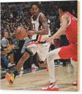 Portland Trail Blazers V La Clippers Wood Print