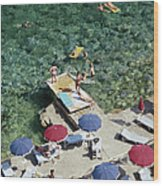Porto Ercole Beach Wood Print