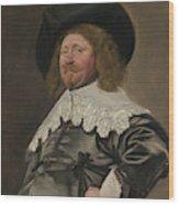 Portrait Of A Man  Possibly Nicolaes Pietersz Duyst Van Voorhout  Wood Print