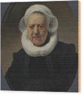 Portrait Of Aechje Claesdr   Wood Print