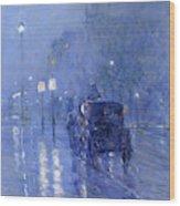 Rainy Midnight, Late 1890s  Wood Print