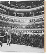 Ray Charles At Carnegie Hall Wood Print