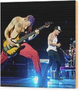 Red Hot Chili Peppers Perform At O2 Wood Print