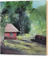 Red House R Wood Print