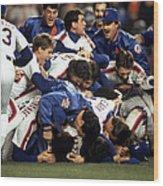 Red Sox V Mets Wood Print