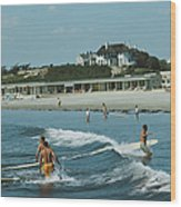Rhode Island Surfers Wood Print