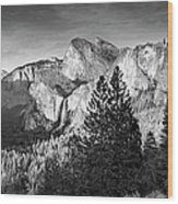 Rocky Mountains Overlooking Rural Wood Print