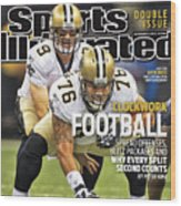 San Diego Chargers V New Orleans Saints Sports Illustrated Cover Wood Print