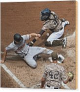 San Franciso Giants V San Diego Padres Wood Print
