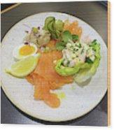 Seafood Platter Wood Print