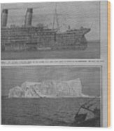 Sectional Diagram Of The Titanic Wood Print