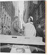 Senator John Kennedy And Jackie Kennedy Wood Print