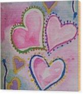 Seven Hearts Wood Print