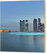 Singapore Marina Bay Wood Print