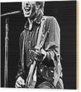 Singer Tom Petty Performs In Concert Wood Print