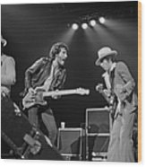 Springsteen Live In New Jersey Wood Print