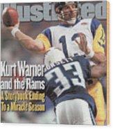 St. Louis Rams Qb Kurt Warner, Super Bowl Xxxiv Sports Illustrated Cover Wood Print