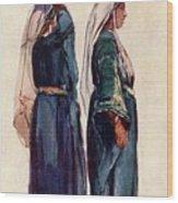 Studies Of Syrian Peasant Women Wood Print