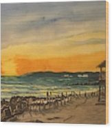 Sunset On Bradenton Beach, Fl. Wood Print