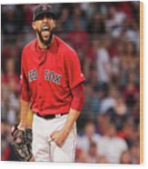 Tampa Bay Rays V Boston Red Sox - Game 1 Wood Print
