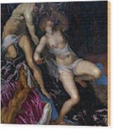 Tarquin And Lucretia Wood Print