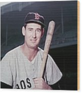 Ted Williams Wood Print