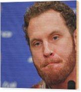 Texas Rangers Introduce Josh Hamilton Wood Print