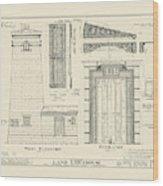 The Erie Land Lighthouse Wood Print
