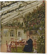 The Family Of Mr  Westfal In The Conservatory  Wood Print