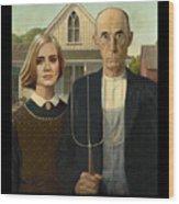 The Farmer And Adele Wood Print