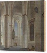 The Interior Of The Buurkerk At Utrecht  Wood Print