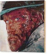 The Wounded Cowboy Wood Print