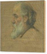Title Sketch Of Alphonse Legros Wood Print