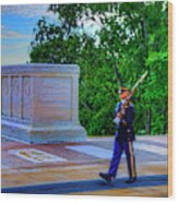 Tomb Of The Unknown Soldier Painting Wood Print
