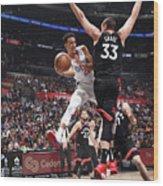 Toronto Raptors V Los Angeles Clippers Wood Print
