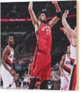 Toronto Raptors V Portland Trail Blazers Wood Print