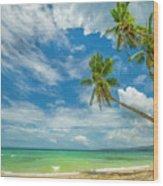 Tropical Beach, Siquijor Island Wood Print