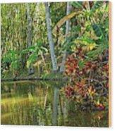 Tropical Corner Wood Print