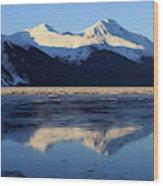 Turnagain Arm And Kenai Mountains Alaska Wood Print