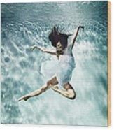 Underwater Ballet Wood Print