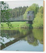 Union Bridge At Horncliffe On River Tweed Wood Print
