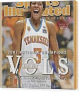 University Of Tennessee Candace Parker, 2007 Ncaa National Sports Illustrated Cover Wood Print