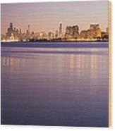 Usa, Illinois, Chicago, City Skyline Wood Print