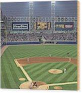 Usa, Illinois, Chicago, White Sox Wood Print