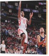 Utah Jazz V Houston Rockets Wood Print