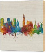 Utrecht The Netherlands Skyline Wood Print