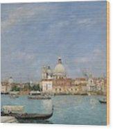 Venice, Santa Maria Della Salute From San Giorgio - Digital Remastered Edition Wood Print