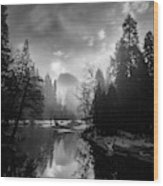 View Of Half Dome II Wood Print
